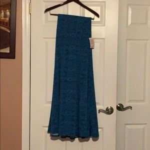 Lularue XXS strapless blue printed dress